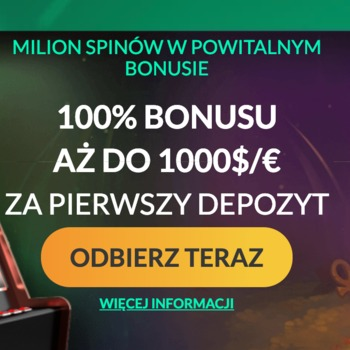 100% bonus do 1000€ na start w SpinMillion
