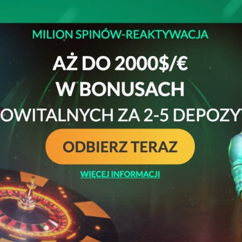 2000€ w bonusach z depozytami 2 do 5 w SpinMillion