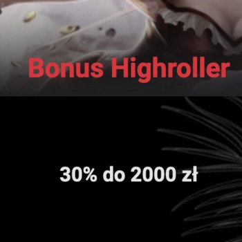 30% do 2000 zł z bonusem highroller w Cobra Casino