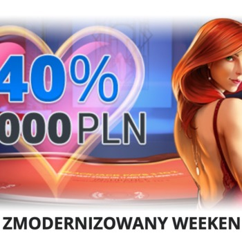 Bonus WEEKEND 40% do 2000zł w EgoCasino