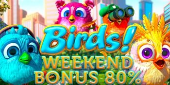 Weekend bonus 80% bonanza game